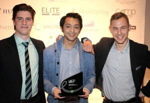 From left to right: Humber College graduates Connor Graham, Richard Le and Alex Rudnicki.