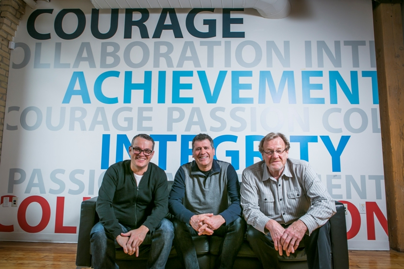 From left to right: FUSE President Stephen Brown, CEO Garo Keresteci and Chair Mike Preston.